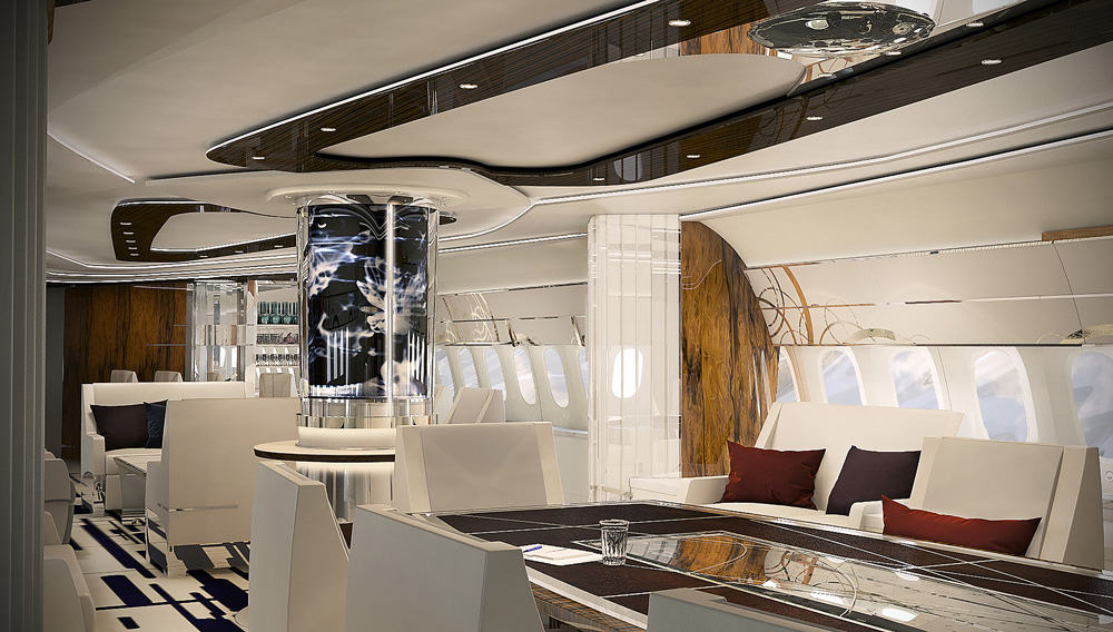 Greenpoint design boeing 787 vip interior aircraft for Aircraft interior designs