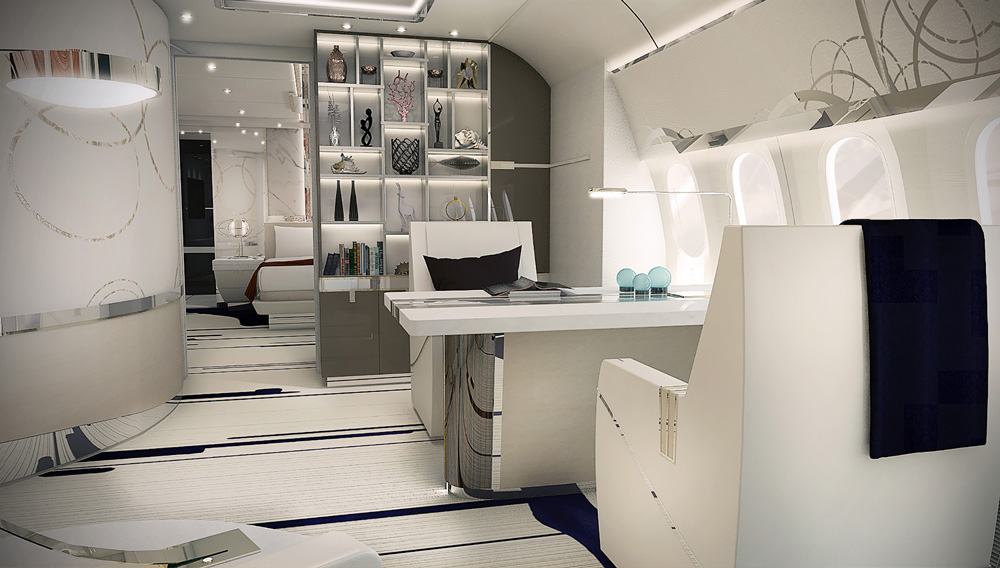 Greenpoint design boeing 787 vip interior aircraft for Img interior design