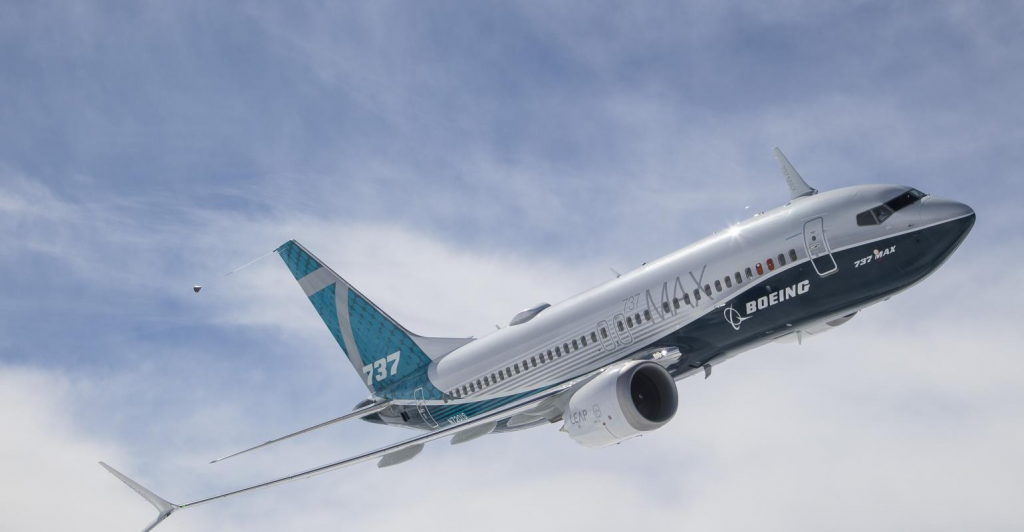 boeing 737 max in flight