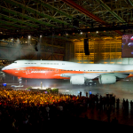 Boeing 747-8 launch event