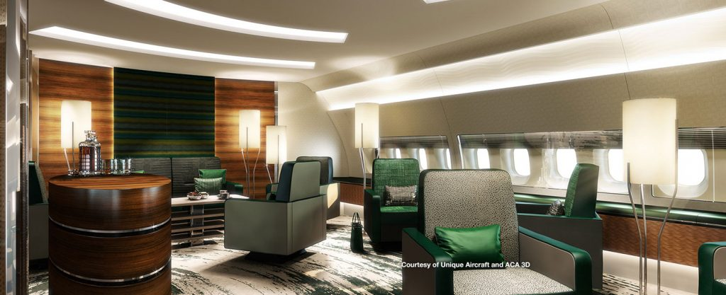BBJ 77X interior from Greenpoint Technologies