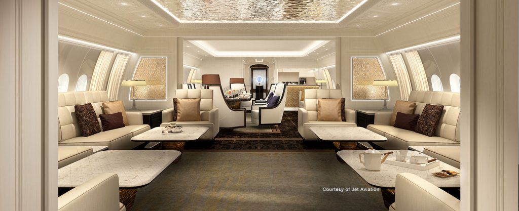 BBJ 777X interior concept from Jet Aviation