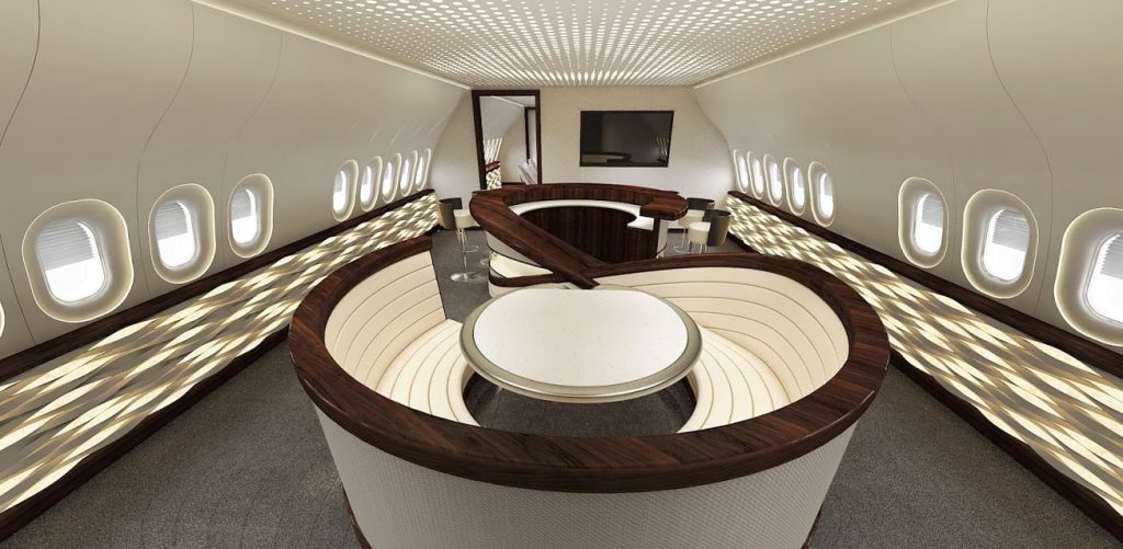 Jet interior design concept for the BBJ 777X by VIP Completions Ltd. (UK)