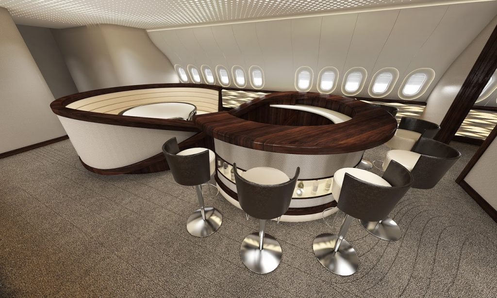 Jet interior design concept for the Boeing 777X by VIP Completions Ltd. (UK)