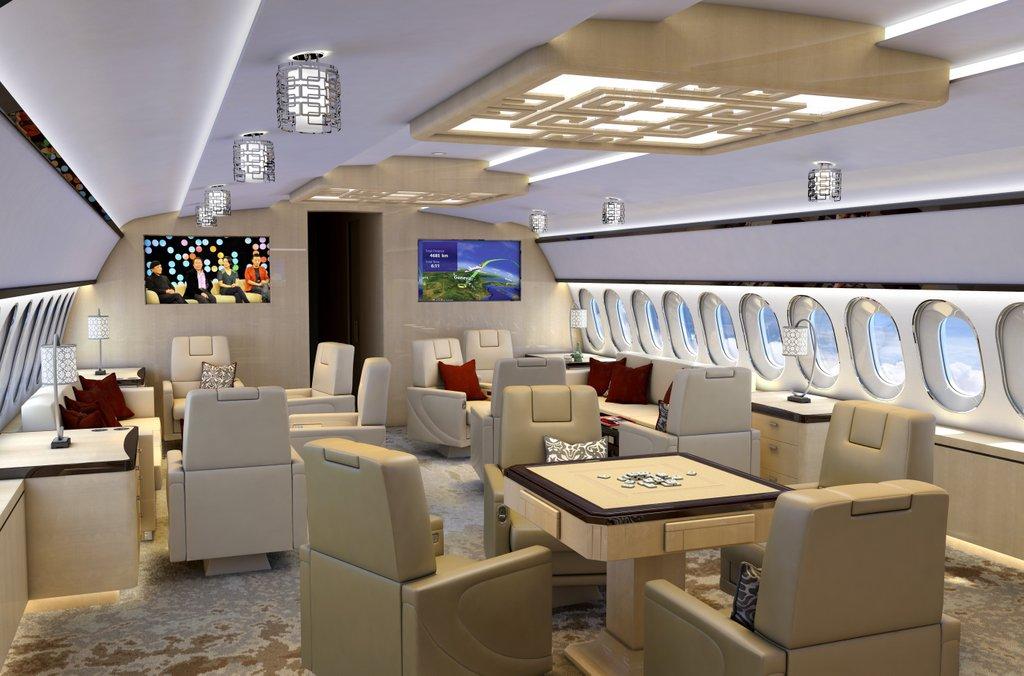 aeria luxury interiors - designers   aircraft completion