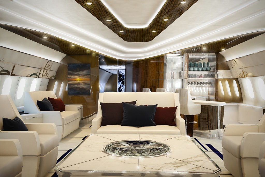 Greenpoint Technologies Bbj787 9 Azure Interior Named Sbid Awards Finalist Aircraft