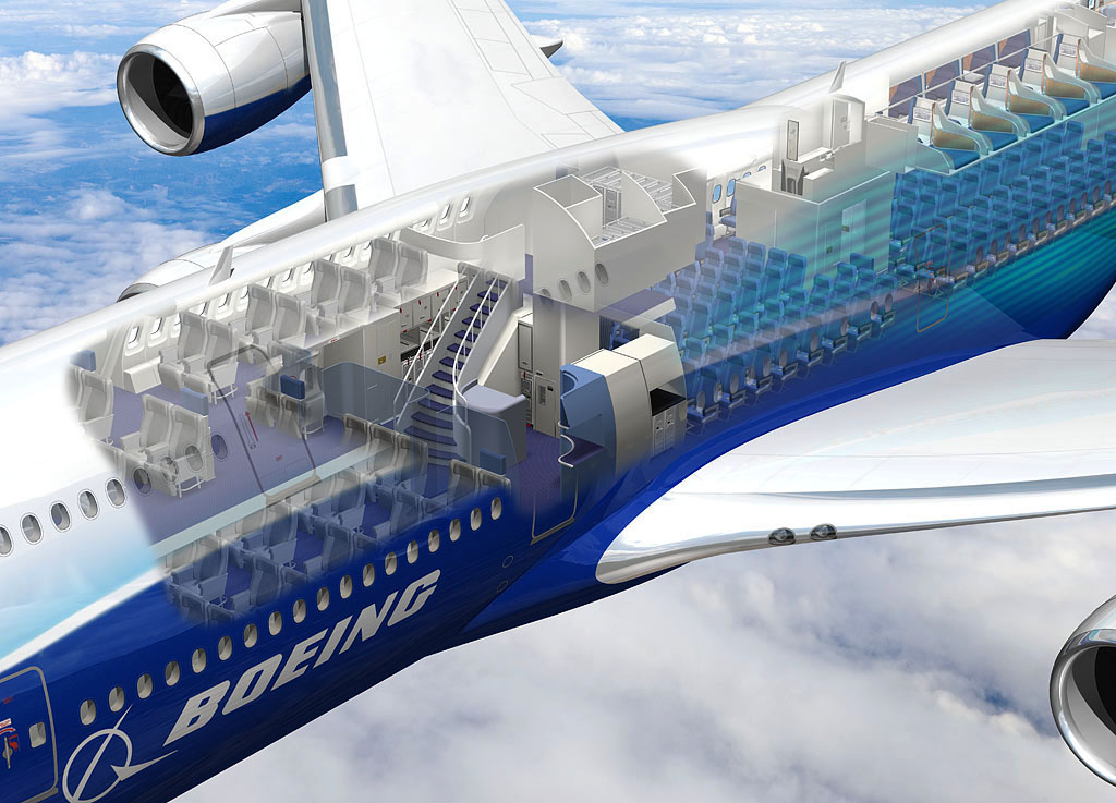 Vip versions of bbj 747 8 and bbj 737ng could extend for Boeing 747 8 interieur