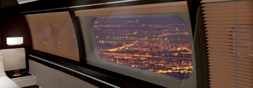 Fokker SkyView Panoramic Window Interior Boeing 737