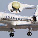 Gulfstream with T Series Satcom antenna