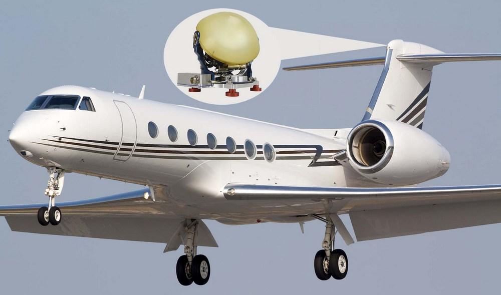 Gulfstream with T Series Satcom antenna