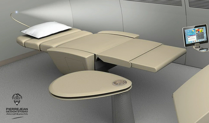 Lufthansa Technik chair bed