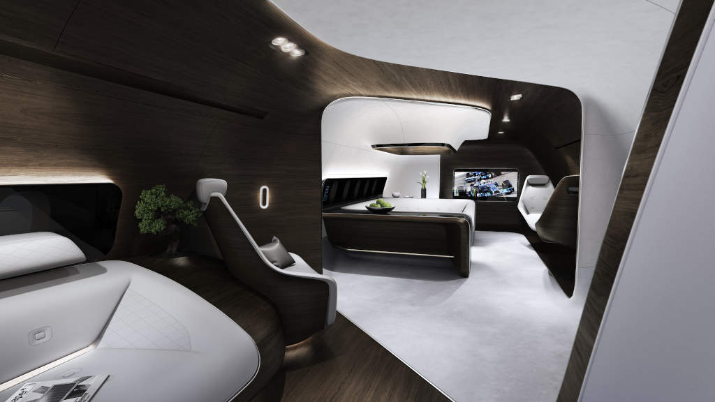 Mercedes benz vip cabin design presented at dubai air show for Mercedes benz creator