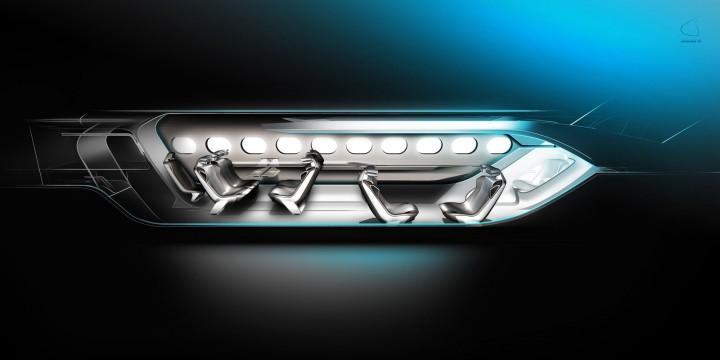 Peugeot Concept Jet HX1 Interior Design