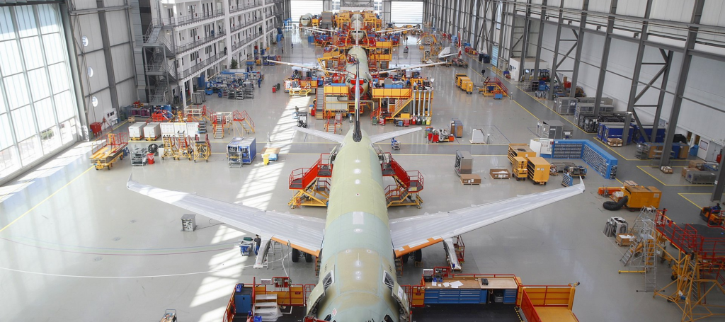 airbus a320 production line