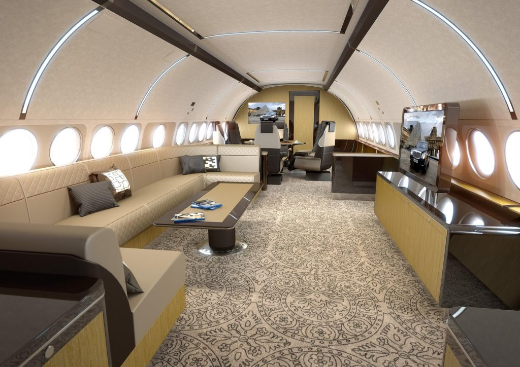 the airbus acj designed elegance interior