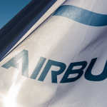 airbus brand logo on flag