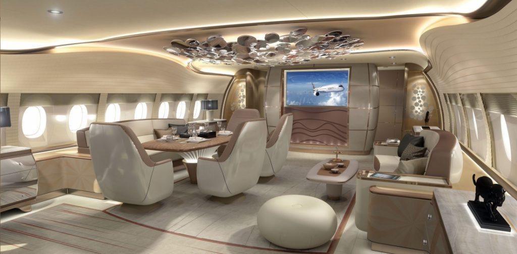 Airbus ACJ350 interior design concept from Jet Aviation