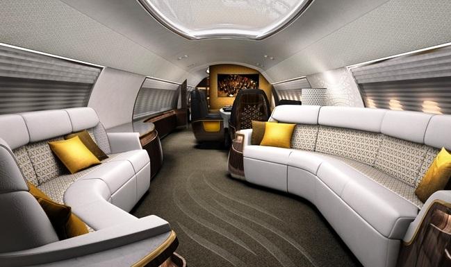Aircraft interior designers gallery aircraft completion for Aircraft interior designs