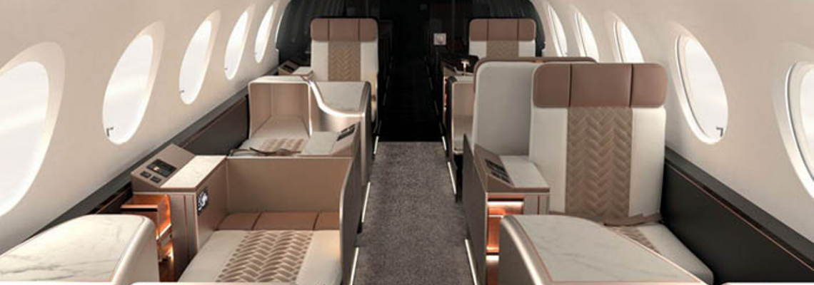 A new business jet layout designed for efficiency.