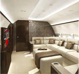 BBJ interior lounge designs by Mahler Design | | Aircraft Completion ...