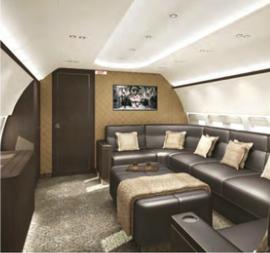 BBJ interior lounge designs by Mahler Design | Aircraft