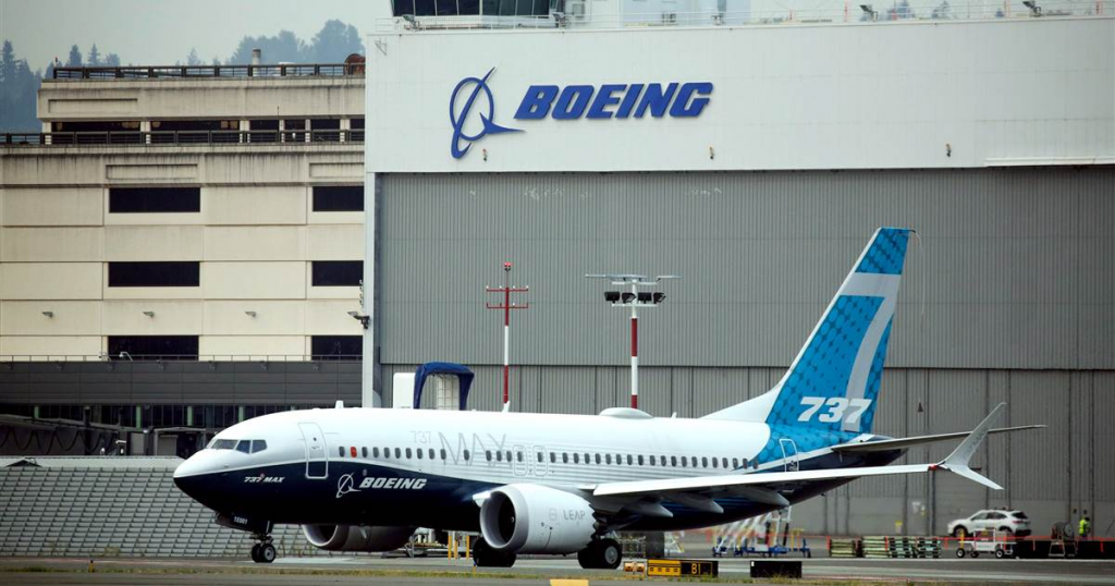 boeing 737 max outside of factory