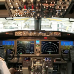 pilot sitting in the 737 max cockpit