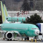 a new green boeing 737 max aircraft