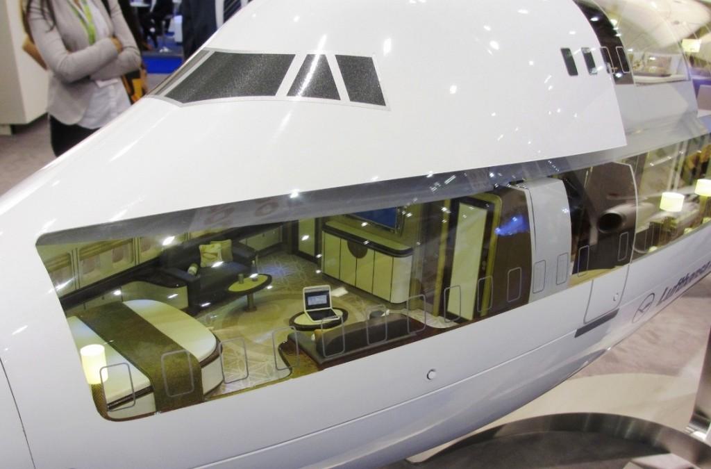 Boeing 747-8 Bedroom - Lufthansa Technik - EBACE 2014