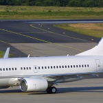 a boeing 737-700 on the runway