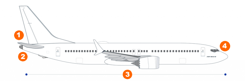 side view of the boeing 737 max showing changes