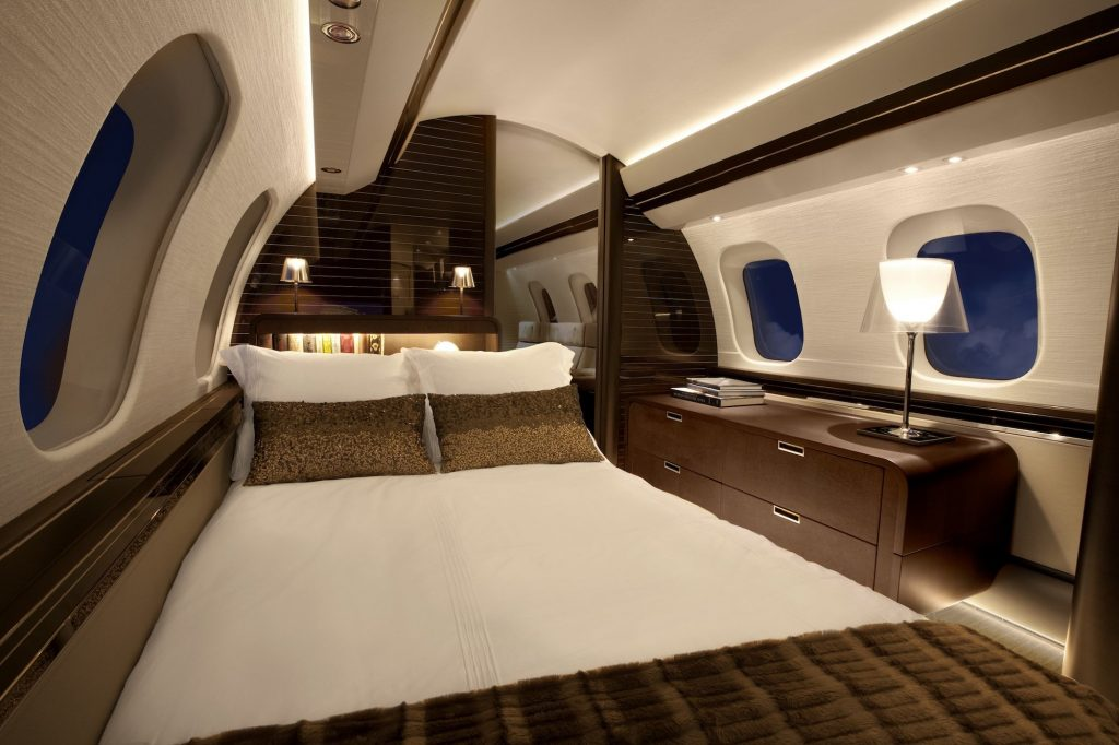 bombardier global 7000 interior bed