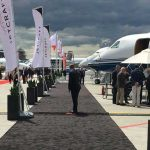 business jet on the tarmac for sale at ebace