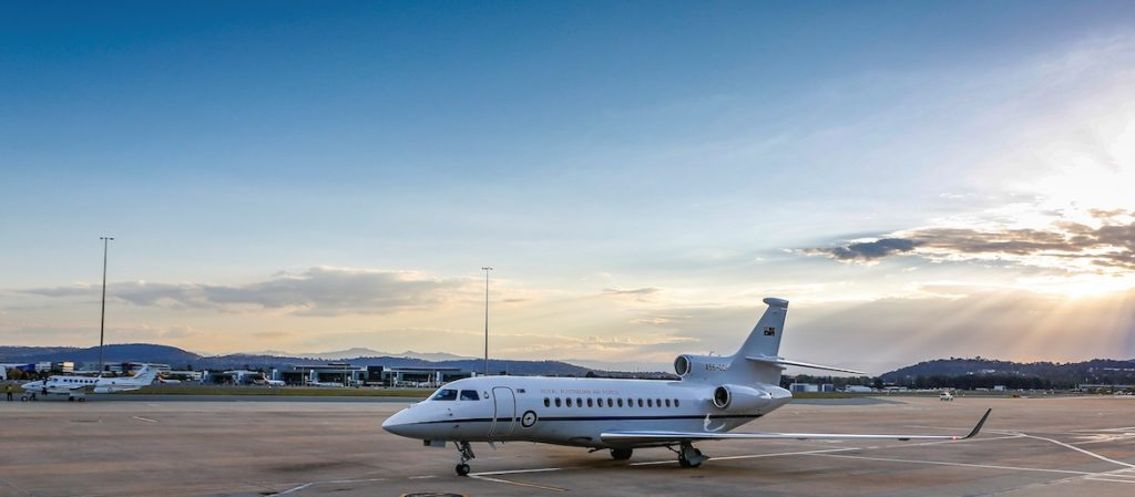 Dassault Falcon Royal Australian Air Force on airfield